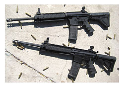 Addax Tactical AR-15 gas piston uppers.