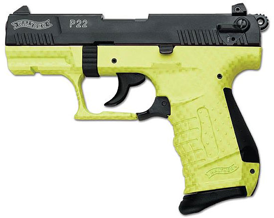 Lime Green Walther P22 Carbon Fiber