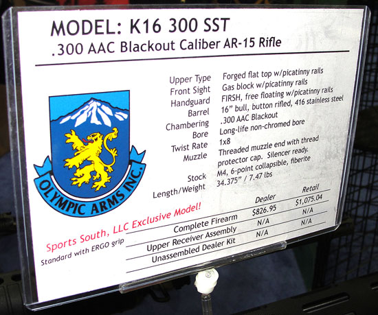 Olympic Arms 300 BLK