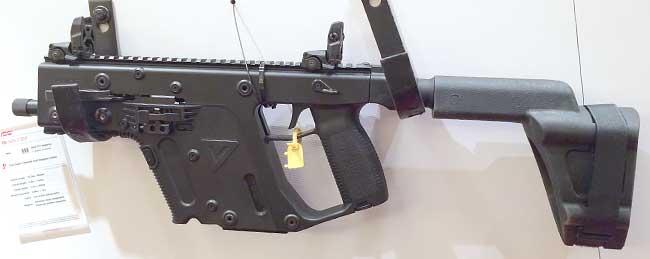 KRISS pistol with arm brace