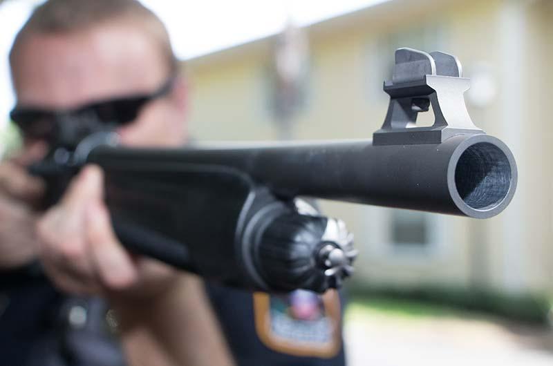 shooting shotgun on the range