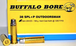 Buffalo Bore .38 Special Outdoorsman Ammunition