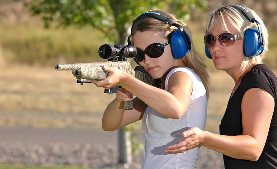 female teen rifle