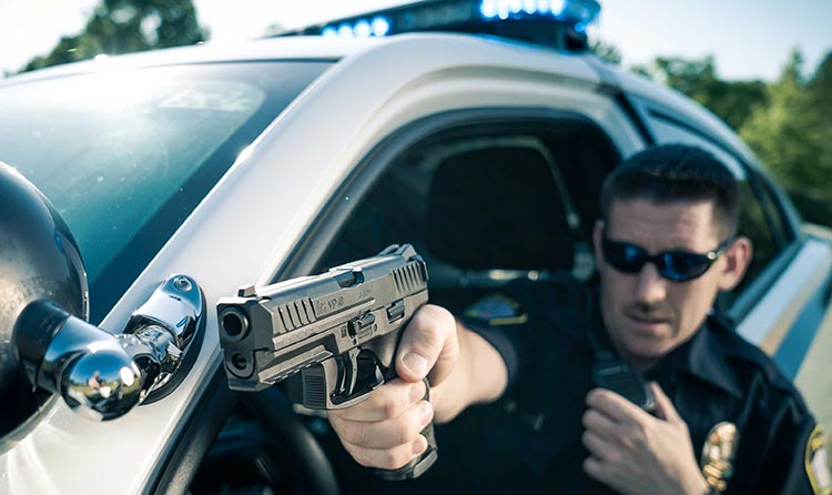 Police Officer with VP40
