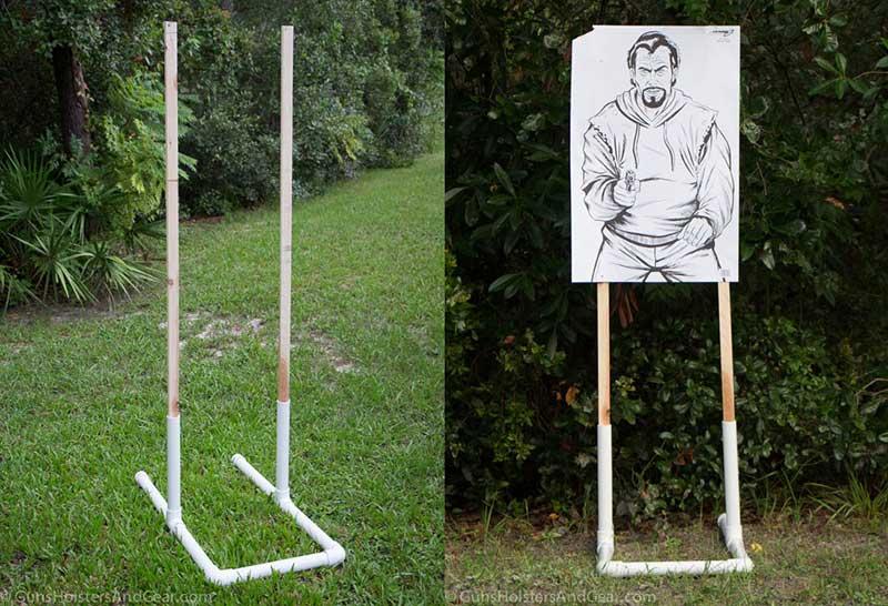 cheap target stand assembled