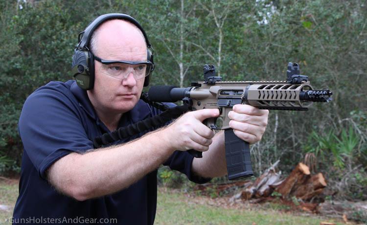 shooting a Diamondback AR pistol