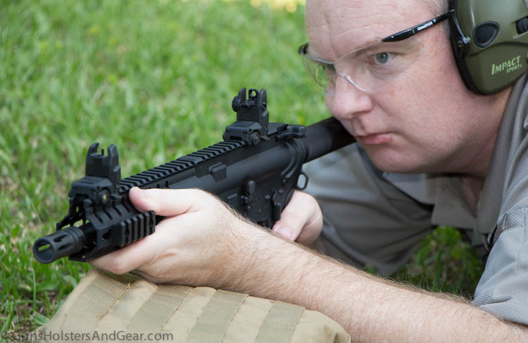 shooting the CMMG Mk4 PDW pistol