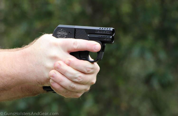shooting the Double Tap handgun