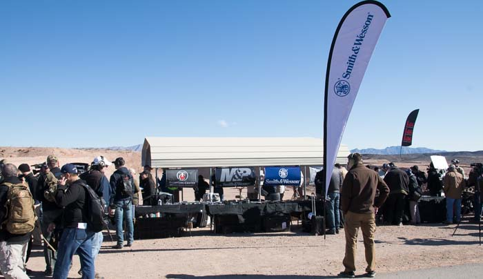 Smith & Wesson booth at Range Day