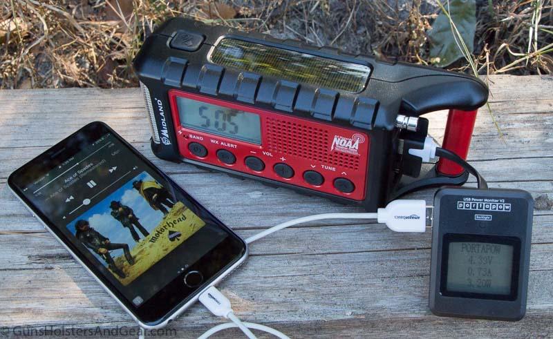 Midland Weather radio charging station