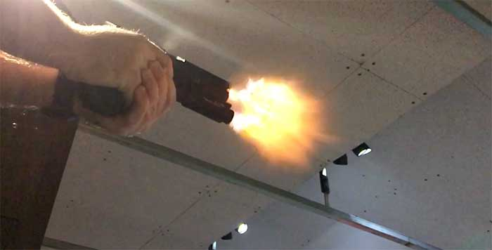 olight valkyrie on gun being fired