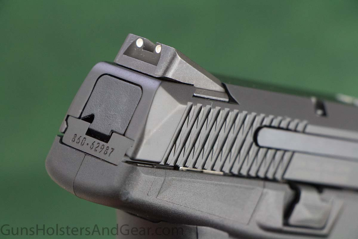 Sights on the Ruger 9mm Pistol