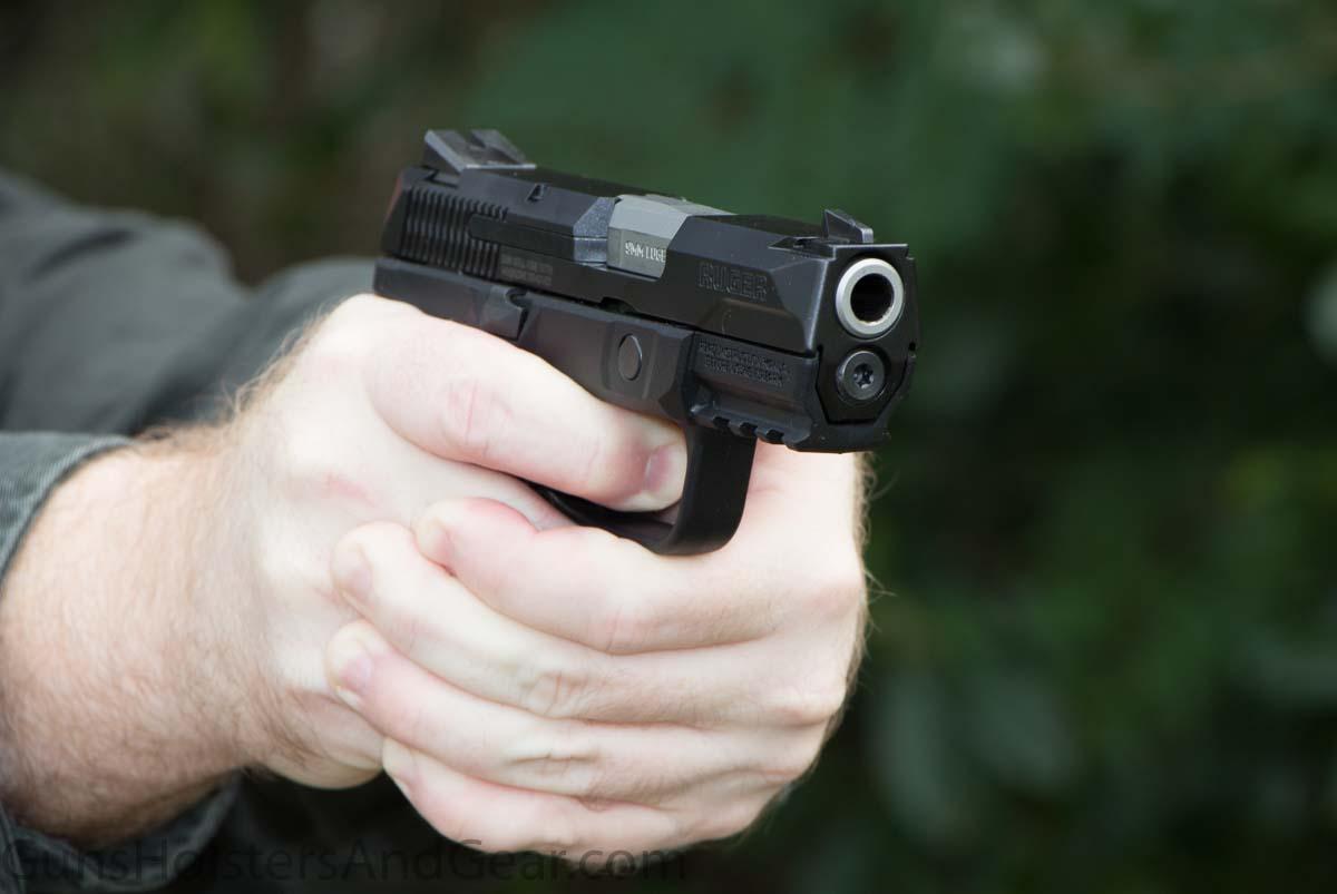shooting the handgun