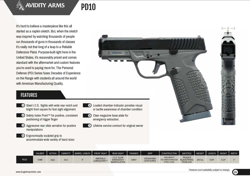 Avidity Arms PD10 agora grátis