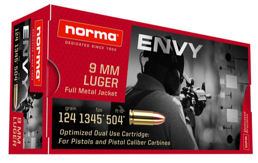 Norma Envy 9mm ammo for PCC