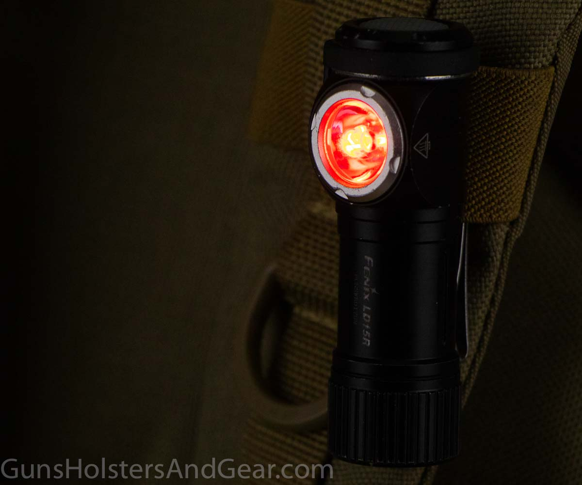 Fenix LD15R red flashlight