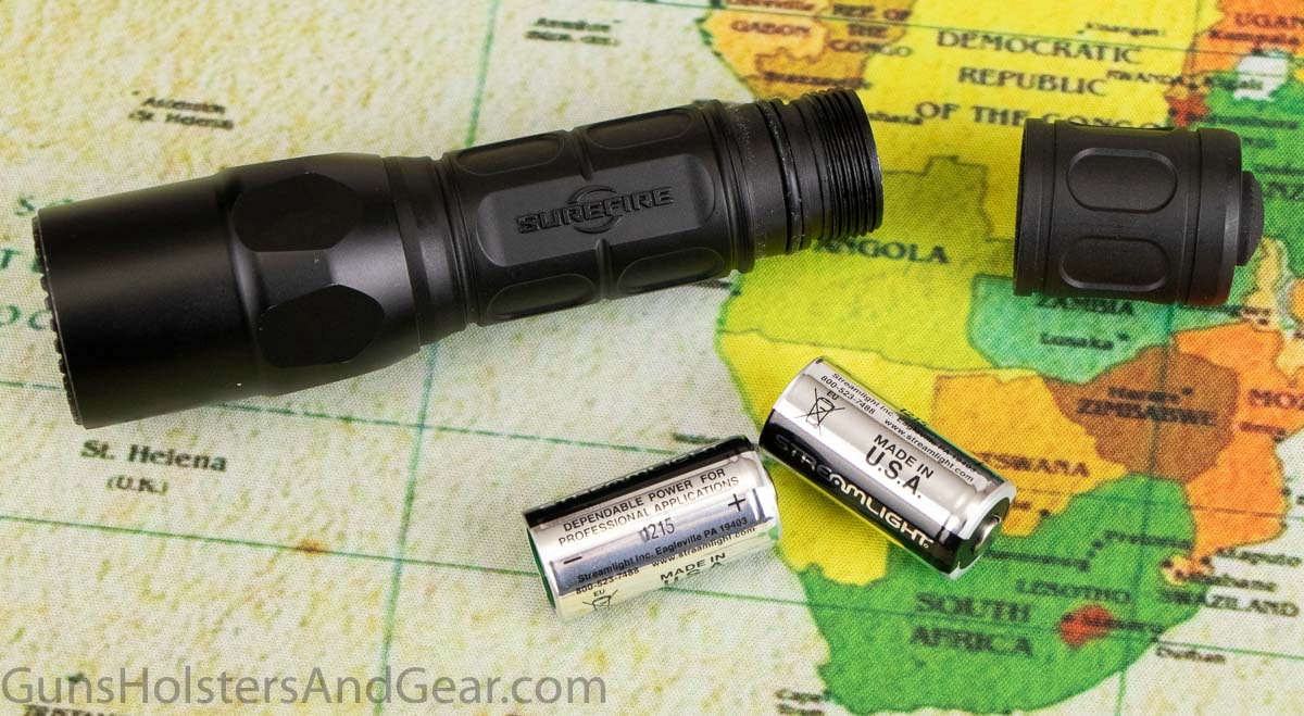 SureFire G2X Tactical with CR123A Batteries