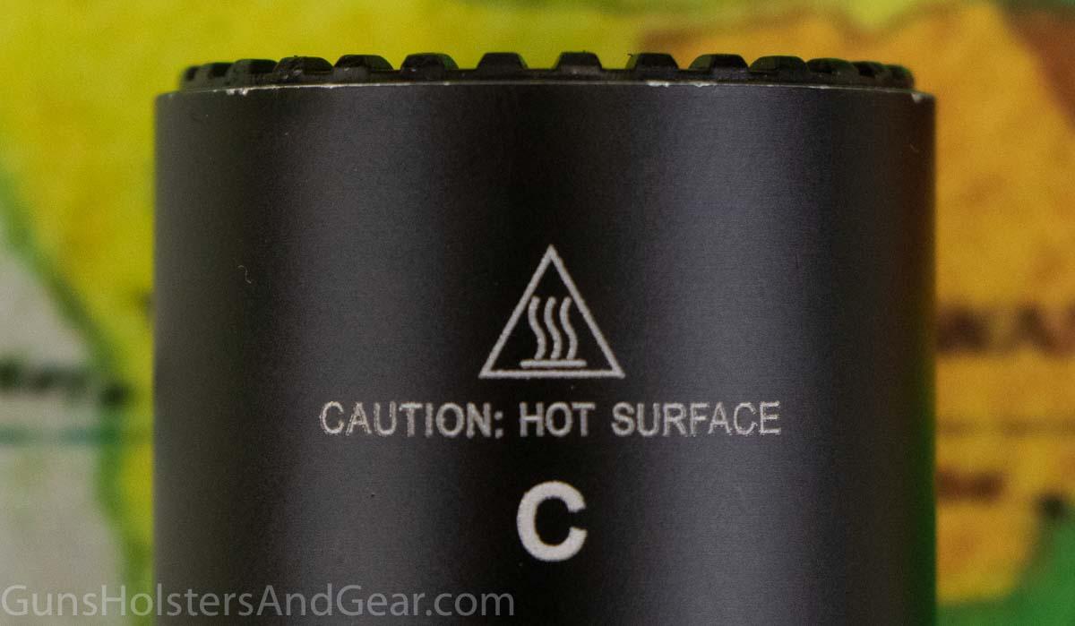 Heat Generation SureFire G2X Flashlight