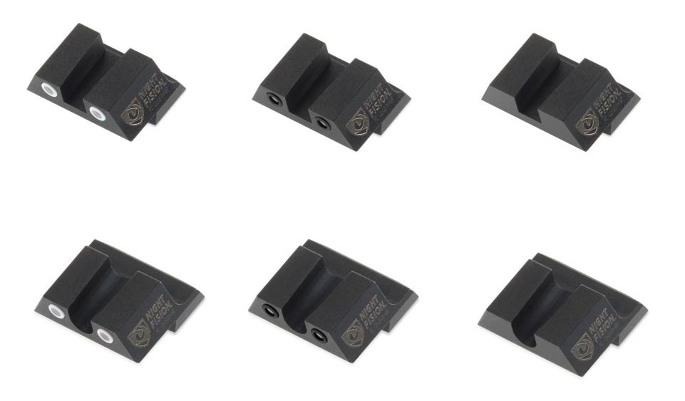 Night Fision Rear Sight for Springfield Armory XD-S Pistol