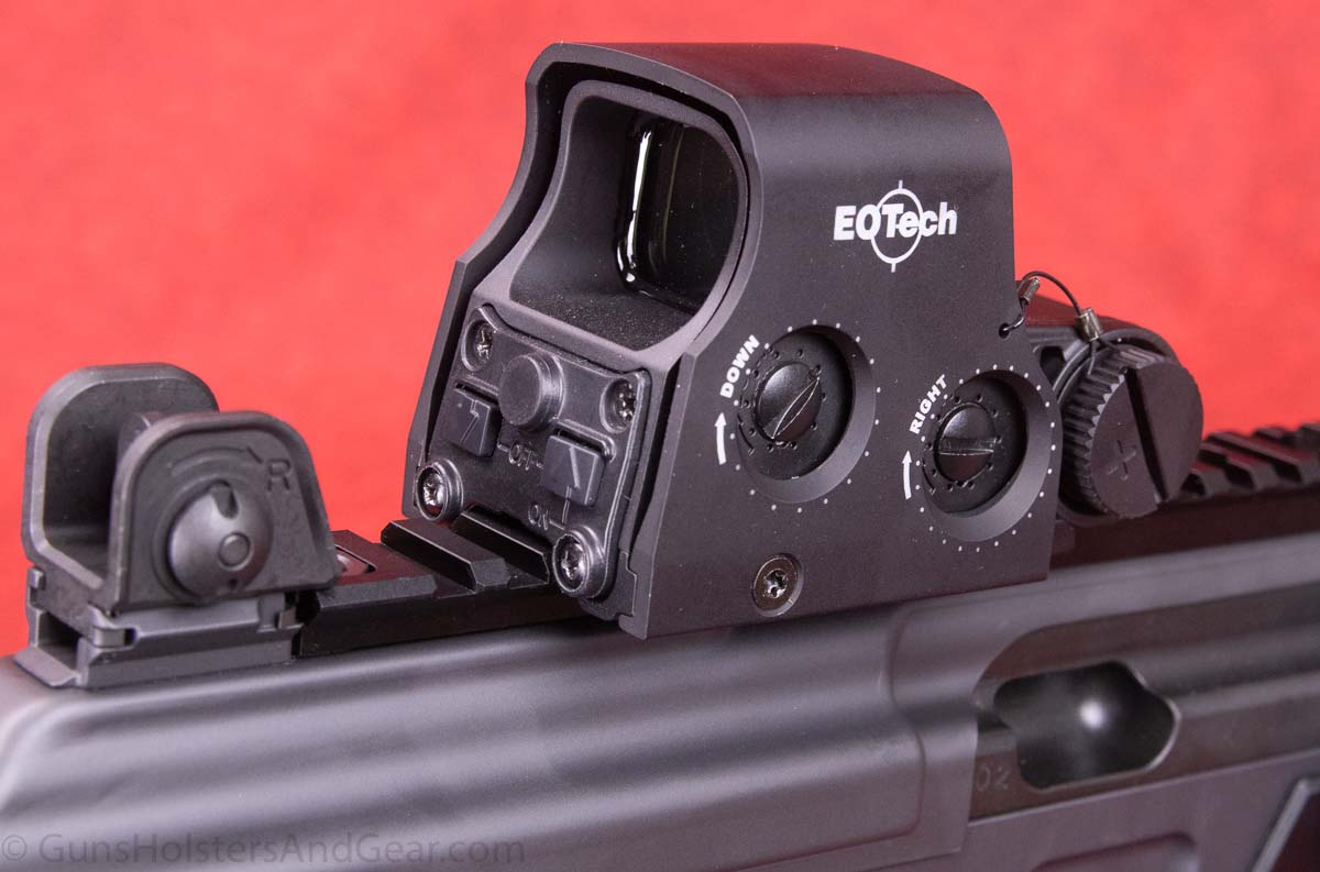 EO Tech XPS2 Holographic Sight on IWI Galil ACE