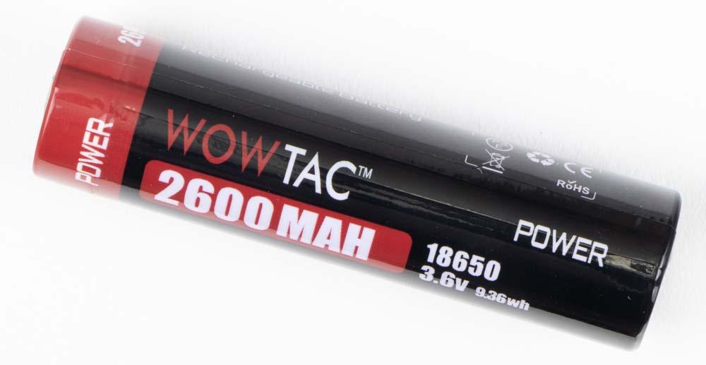 Wowtac A7 Flashlight Review 18650 battery